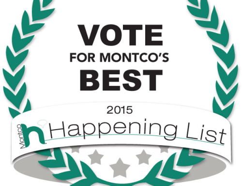 We're nominated for Montco's Happening 2015 List!